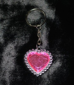 Heart Keychain Bling