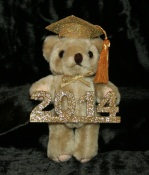 Large Gold Grad Bear