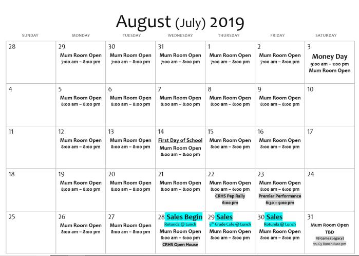 2019-08-25 July August Calendar
