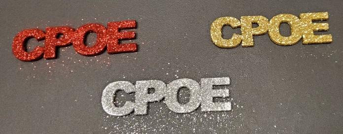 Glittered CPOE